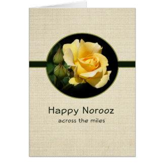 Cartes Norooz heureux à travers les milles avec le rose