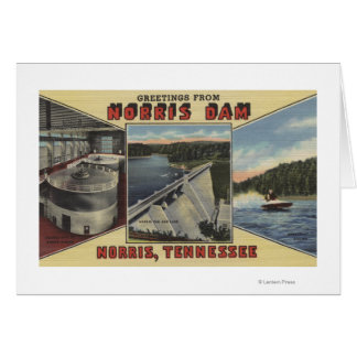 Cartes Norris, Tennessee - salutations de barrage de
