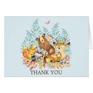 Cartes Note de Merci de baby shower d'animaux de région