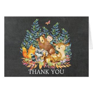 Cartes Note de Merci de baby shower de tableau de région