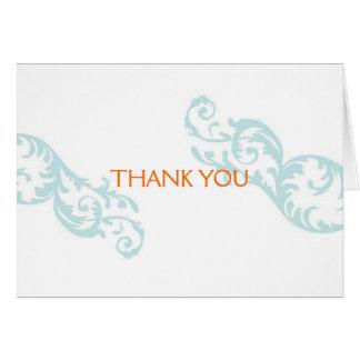 Cartes Note de Merci de Flourish
