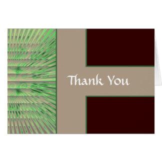 Cartes Note de Merci de Grn-Brn-Tan