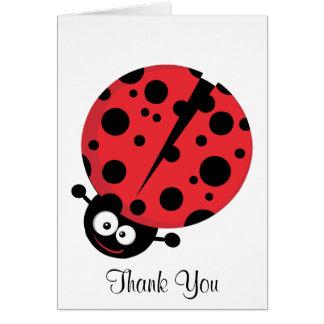 Cartes Note de Merci de Madame Bug