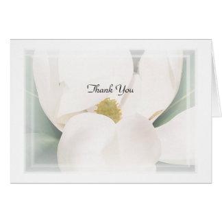 "Cartes Note de ""Merci"" de magnolia"