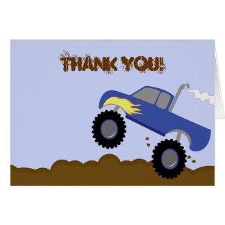 Cartes Note de Merci pliée par anniversaire de camion de