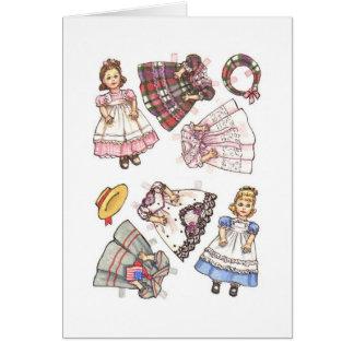Cartes Note de papier de poupée