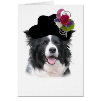 Cartes Note Ditzy Card~Halloween de colley de Dogs~Border