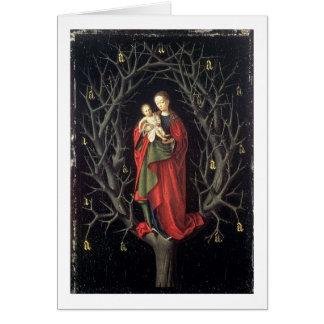 Cartes Notre Madame de l'arbre sec c.1450 (huile sur le
