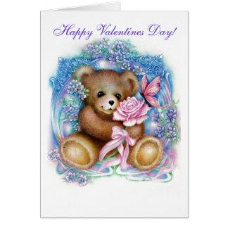 Cartes nounours, jour de Valentines heureux !