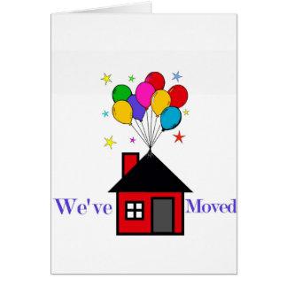 Cartes Nous avons déplacé la nouvelle maison