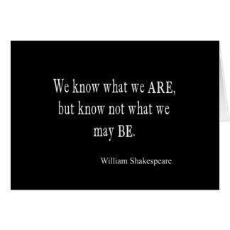 Cartes Nous savons que ce que ne sommes pas nous peut