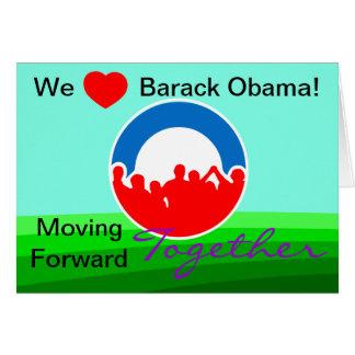 Cartes Nous vote de Barack Obama de coeur sur 11/06/12