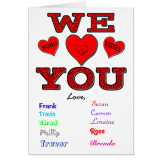 Cartes Nous vous aimons