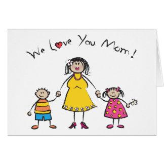 Cartes Nous vous aimons le jour de mère heureux de