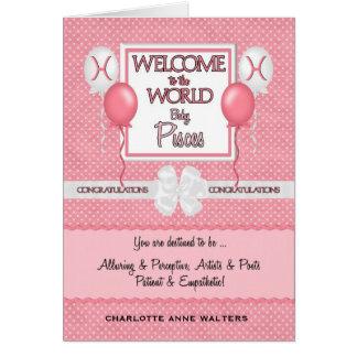 Cartes Nouveau bébé Poissons de félicitations