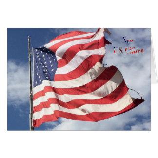 Cartes Nouveau citoyen des États-Unis : Vol de drapeau