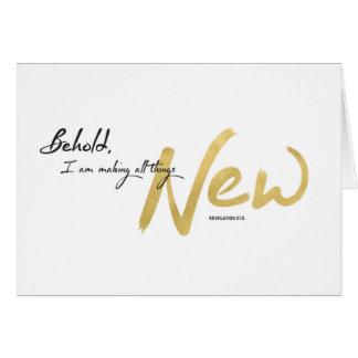 Cartes Nouvelle année, écriture sainte - je rends toutes