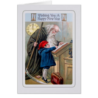 Cartes Nouvelle année vintage