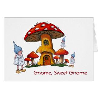 Cartes Nouvelle maison bienvenue, gnomes, art