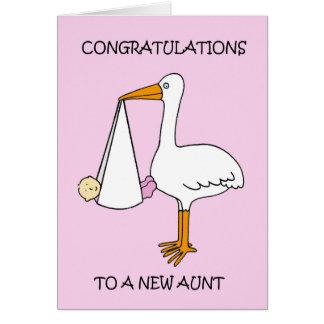 Cartes Nouvelle tante Congratulations (bébé).