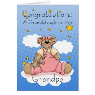 Cartes Nouvelles félicitations de bébé de grand-papa