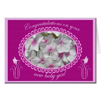 Cartes Nouvelles félicitations de bébé de Phlox