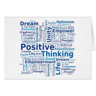 Cartes Nuage de pensée positif de mot dans des couleurs