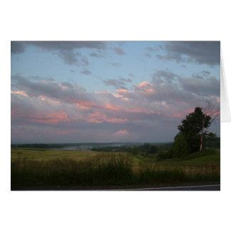 Cartes Nuages de coucher du soleil