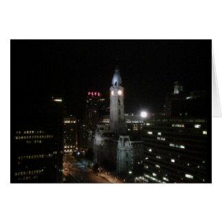 Cartes Nuit centrale de ville de Philadelphie