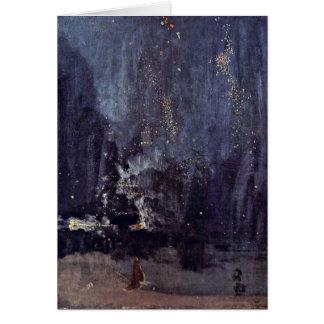 Cartes Nuit dans le noir et or par James Mcneill Whistler