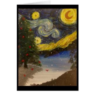 Cartes Nuit de Noël étoilée
