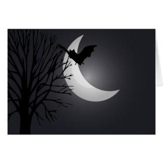 Cartes Nuit éclairée par la lune Halloween heureux