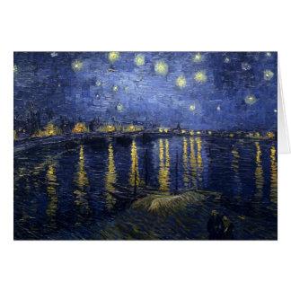 Cartes Nuit étoilée au-dessus du Rhône