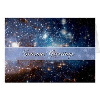 Cartes Nuit étoilée de Bonnes Fêtes - télescope de Hubble