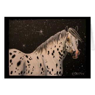 Cartes Nuit étoilée de cheval d'Appaloosa