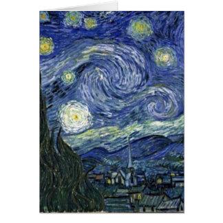 Cartes Nuit étoilée par Van Gogh