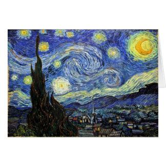 Cartes Nuit étoilée par Vincent van Gogh 1889