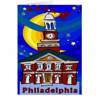 Cartes Nuit étoilée Philadelphie Père Noël