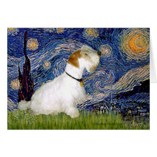 Cartes Nuit étoilée - Sealyham Terrier (l)