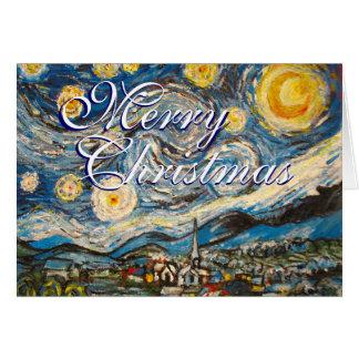 Cartes Nuit étoilée Vincent van Gogh de Noël peint