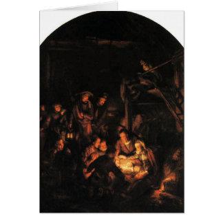 Cartes Nuit silencieuse - Rembrandt 1640.