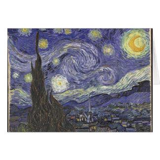 Cartes nuit Van Gogh-étoilée