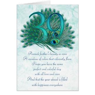 cartes numérotées décoratives de trente-neuvième