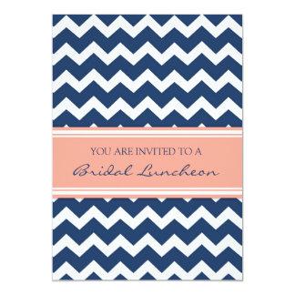 Cartes nuptiales bleues de corail d'invitation de carton d'invitation  12,7 cm x 17,78 cm