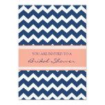 Cartes nuptiales de corail bleues d'invitation de