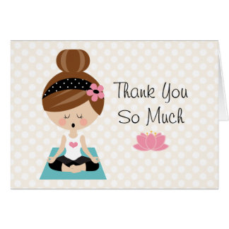 Cartes nuptiales de Merci de douche de yoga
