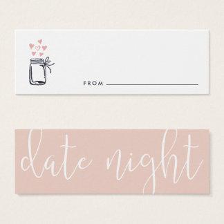 Cartes nuptiales de pot de nuit de date de douche