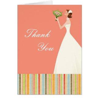 Cartes nuptiales roses de Merci de douche avec des
