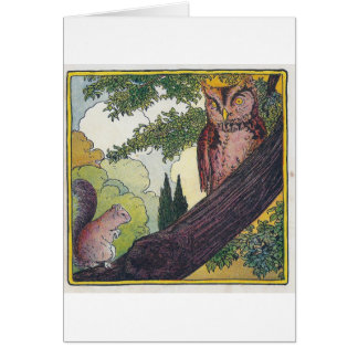Cartes O est le vieux hibou qui se repose dans un arbre