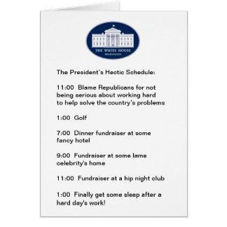 Cartes Obama - le golfeur/Collecteur de fonds-dans-Chef